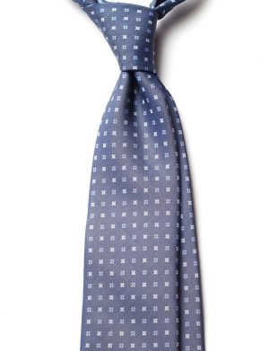 Cravata matase gri model floral