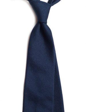 Cravata matase grenadine bleumarin