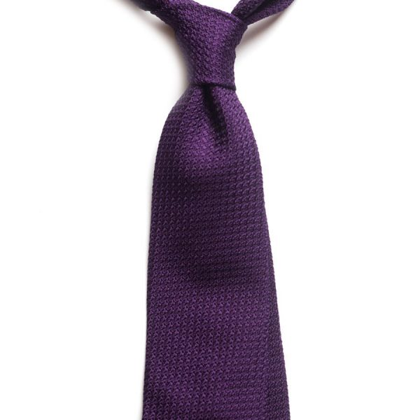 cravata matase grenadine mov Garzagrossa 8608 4