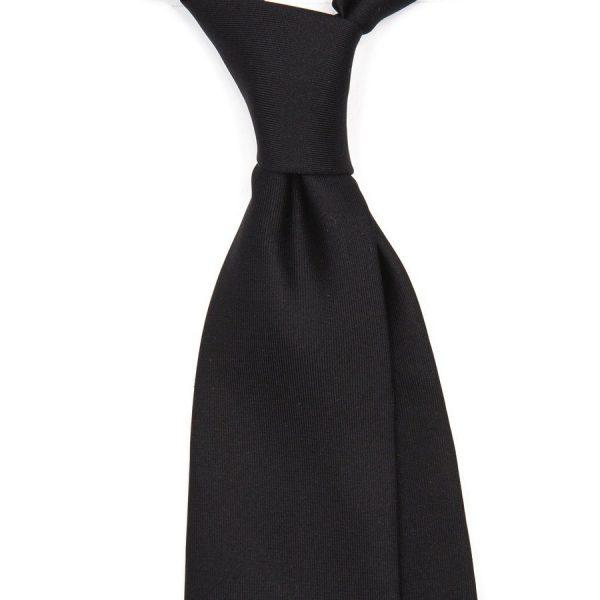 cravata matase macclesfield handmade simpla neagra 397 4