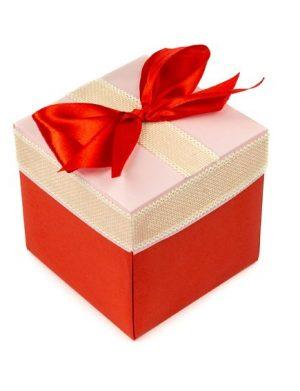Exploding Box, cutie in cutie, cu 8 mesaje/poze, personalizata, cutia principala rosie cu alb
