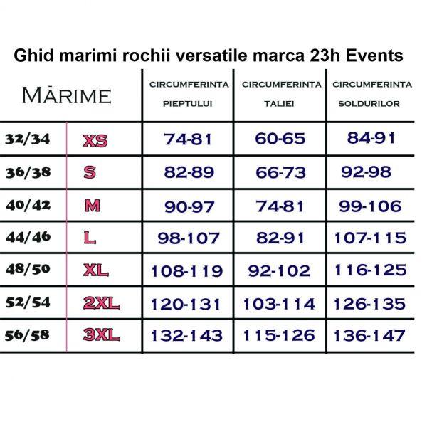 ghid marimi rochii versatile 23h Events
