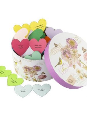 50 Reasons Why I Love You, mesaje-inima, diverse modele, cadou iubit(a), multicolor
