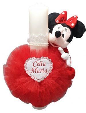 Lumanare botez personalizata Baby Minnie – MTB115
