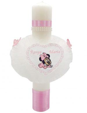 Lumanare botez personalizata Baby Minnie – MTB116