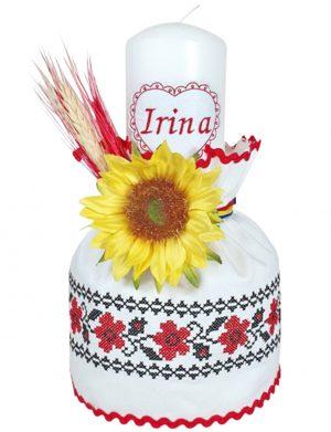 Lumanare botez traditionala- motiv floral – MTB114