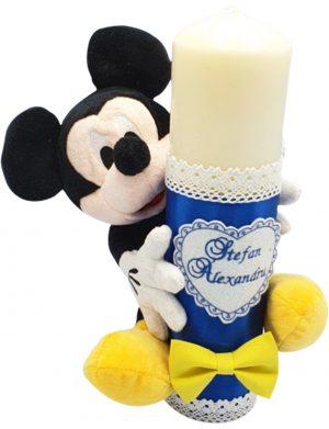Lumanare pentru botez cu jucarie Mickey – MTB109