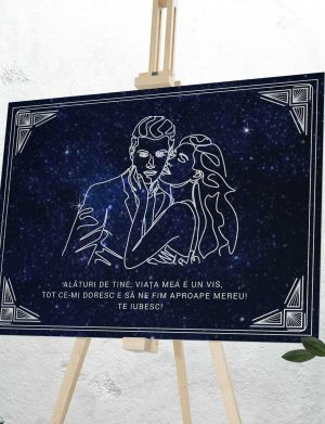Tablou canvas Soapta personalizat cu mesaj, dim. 70 x 53  cm – OPB1921