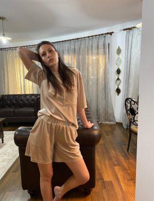 Set catifea pantaloni scurti – AGB01212