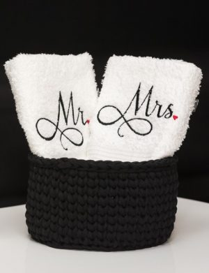 Set prosoape personalizate MR & MRS