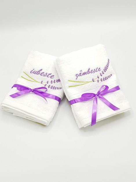 set prosoape personalizate lavanda