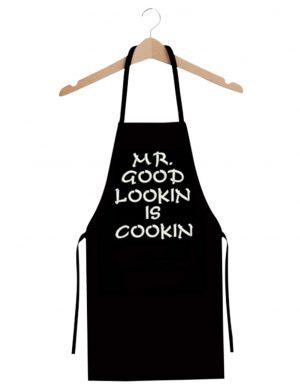 Sort bucatarie personalizat prin broderie, Mr Good Looking is Cooking – MTB401