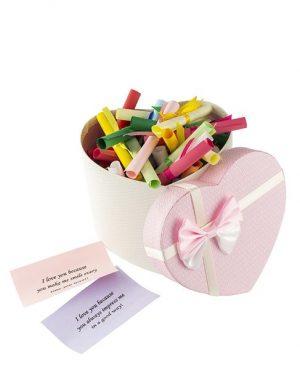 50 Reasons Why I Love You, mesaje-sul, diverse modele, cadou iubit(a), multicolor