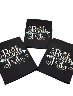 Tricou pentru petrecerea burlacitelor cu mesajul Bride Tribe – MTB003